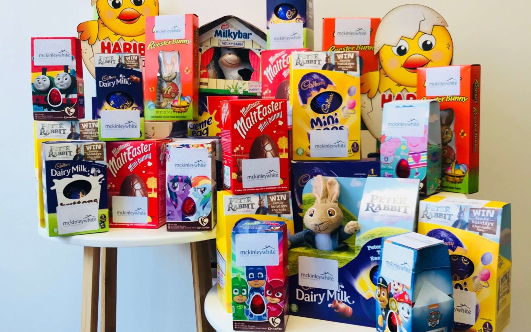 McKinley White's Community Fund has assisted Silverton School PTA in their fundraising activities, by donating 30 Easter eggs towards an Easter Prize Draw